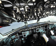 A particular view of a cockpit Stock Photo