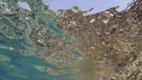Particular vision of the Mediterranean seabed of the island of Ventotene stock footage
