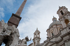 Particularly the obelisk of Piazza Navona in Rome Royalty Free Stock Image