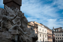 Particularly the obelisk of Piazza Navona in Rome Royalty Free Stock Photo