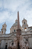 Particularly the obelisk of Piazza Navona in Rome Stock Photo