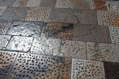 Particularly the pavement of the square of miracles Stock Photography