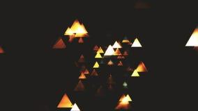 Particules abstraites foncées de Colorize de triangle Images stock