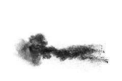 Particules de charbon de bois photographie stock