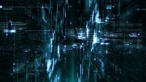 Particules de l'espace de Cyber de Digital Images stock