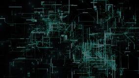 Particules de l'espace de Cyber de Digital Photographie stock