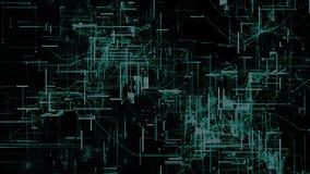 Particules de l'espace de Cyber de Digital Image libre de droits