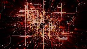 Particules de l'espace de Cyber de Digital Photo libre de droits