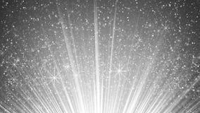 Particules de scintillement dans les rayons légers blancs illustration de vecteur