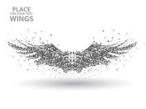Particules des ailes, complètement entreprenantes à travers l'illustration de vecteur d'importance Photo libre de droits