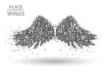 Particules des ailes, complètement entreprenantes à travers l'illustration de vecteur d'importance Photos libres de droits