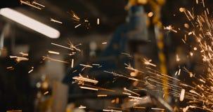 Particules du feu d'?nergie soudant l'illustration rougeoyante lumineuse industrielle du fond 3D d'?tincelles illustration libre de droits