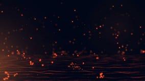 Particules en baisse rougeoyantes de rouge illustration libre de droits