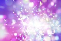 Particules féeriques pourprées d'explosion Photo libre de droits