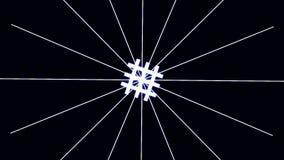 Particules HUD Background de ville de Cyber de Digital avec des lignes modèle avec les cubes et la lumière instantanée rétro fond illustration libre de droits