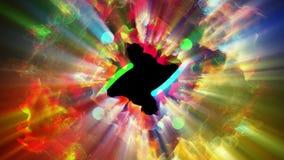 Particules lumineuses et miroitantes, illustration 3d Photo stock