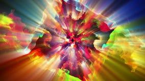 Particules lumineuses et miroitantes, illustration 3d Photographie stock libre de droits