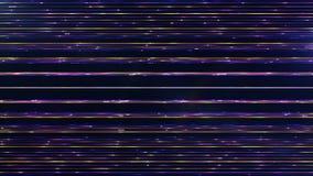 Particules multicolores horizontales parallèles fréquentes futuristes lin Photographie stock libre de droits