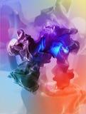 Particules multicolores, illustration 3d Photographie stock