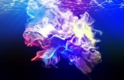Particules multicolores, illustration 3d Images libres de droits
