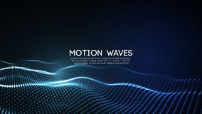 particules numériques abstraites rougeoyantes de la vague 3D Illustration futuriste de vecteur Élément de HUD Concept de technolo illustration libre de droits