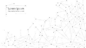 Particules polygonales abstraites sur le fond blanc Points et lignes illustration libre de droits