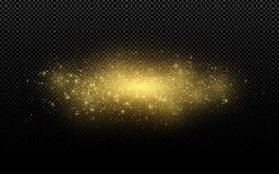 Particules rougeoyantes de vol de la poussière de scintillement d'or Journal d'or Lumières d'or de Noël Illustration rougeoyante  illustration stock