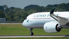 Partida de Airbus A350 video estoque