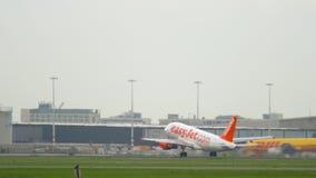 Partida de EasyJet Airbus A319 filme