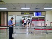 Partida doméstica no aeroporto de Taipei Songshan Foto de Stock