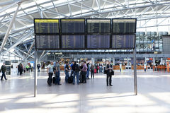 Partida Hall Hamburg Airport Imagens de Stock Royalty Free