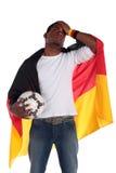Partidario alemán frustrado del fútbol Foto de archivo libre de regalías