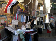 Partidario de Assad Fotografía de archivo libre de regalías