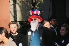 Partidario de Bernie Sanders Foto de archivo