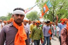 Partidario de BJP Fotos de archivo libres de regalías