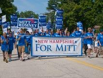 Partidario de Mitt Romney Fotos de archivo