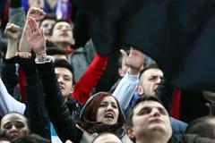 Medios de FC Steaua Bucarest FC Gaz Metan Foto de archivo