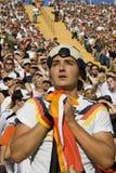 Partidario preocupante del fútbol Imagen de archivo libre de regalías