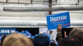 Partidarios de Bernie Sanders en Illinois Imágenes de archivo libres de regalías