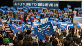 Partidarios de Bernie Sanders en Illinois Imagen de archivo