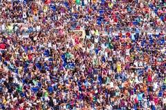 Partidarios de FC Barcelona imagenes de archivo