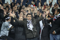 Partidarios de FC Besiktas Imagen de archivo