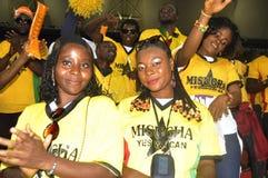 Partidarios de Ghana Fotografía de archivo libre de regalías