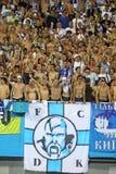 Partidarios de las personas de FC Dynamo Kiev Fotografía de archivo libre de regalías
