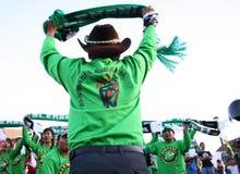 Partidarios del fútbol Imagen de archivo libre de regalías