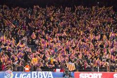 Partidarios del FC Barcelona fotos de archivo libres de regalías