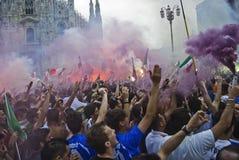 Partidarios, euro 2012 Imagen de archivo
