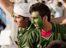 Partidarios paquistaníes Imágenes de archivo libres de regalías