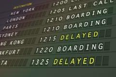 Partidas do vôo - atrasadas ilustração stock