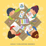 Partido adulto dos livros para colorir Imagem de Stock Royalty Free